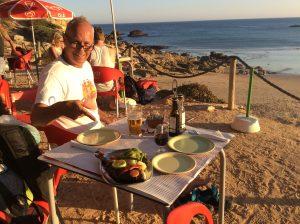 Middag i solen i Portugal