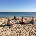 Yoga på stranden 2015 Resa till Portugal